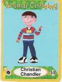 One of Chris's first pretend Animal Crossing E-reader cards