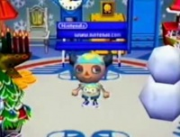 Chris's stoned-looking Animal Crossing character